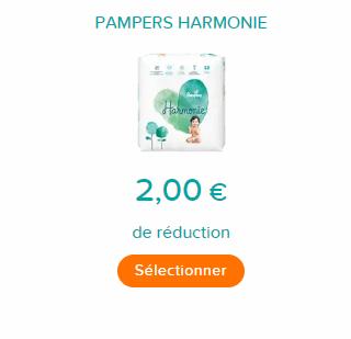 Bon de réduction Pampers Harmonie